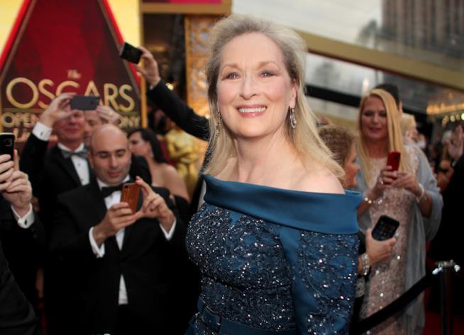 Una foto di Meryl Streep, 20 candidature e 3 oscar all'attivo