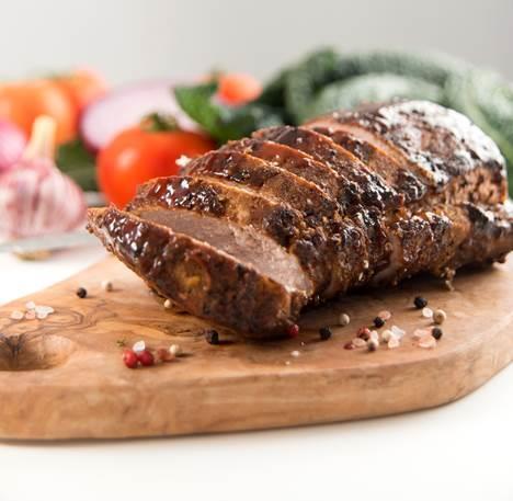 Arrosto di maiale con erbe aromatiche