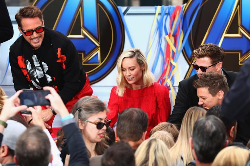 Robert Downey Jr. e Brie Larson al Disney Resort in Anaheim