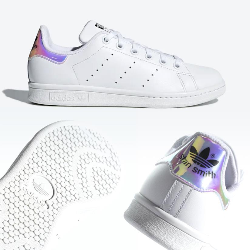 Adidas Stan Smith arcobaleno con dettaglio olografico tallone