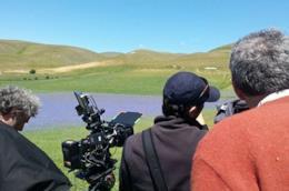 Le riprese di La botta grossa - Storie da dentro il terremoto