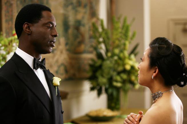 Una scena dal matrimonio di Burke e Cristina nella terza stagione di Grey's Anatomy
