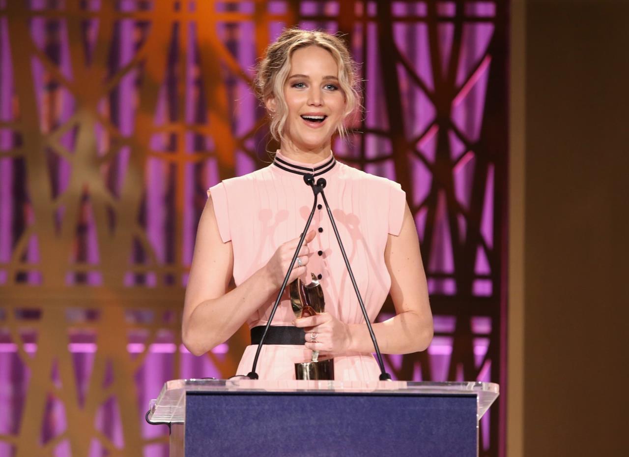 Jennifer Lawrence ha ricevuto il premio per il suo coraggio