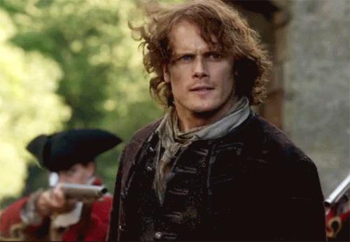 Jamie mentre sta per essere catturato a Lallybroch
