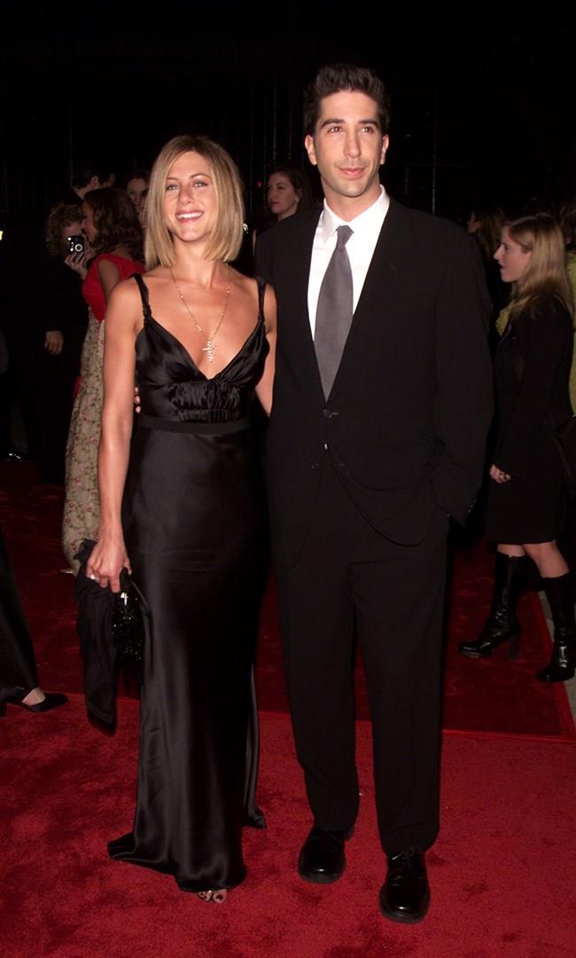 David Schwimmer e Jennifer Aniston ai tempi di Friends
