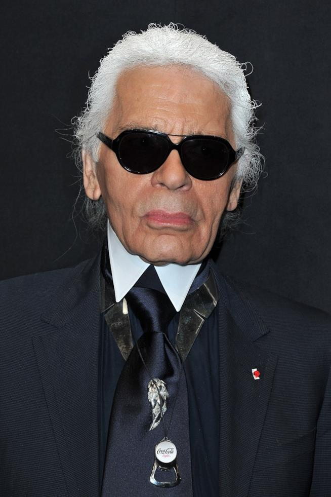 Karl Lagerfeld in primo piano