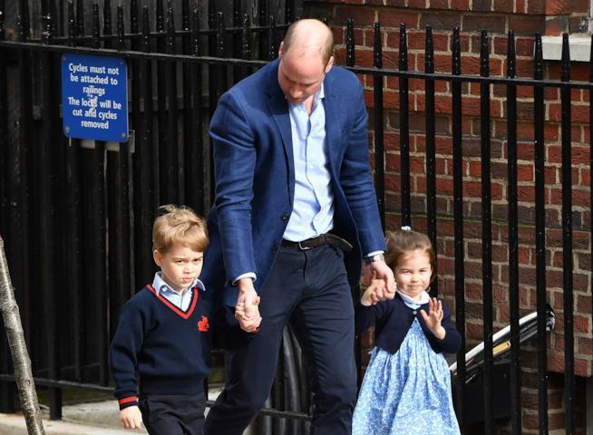 Principe William con i figli George e Charlotte