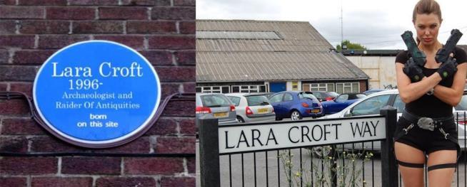 A derby, in Inghilterra, una placca ed una strada dedicate a Lara Croft
