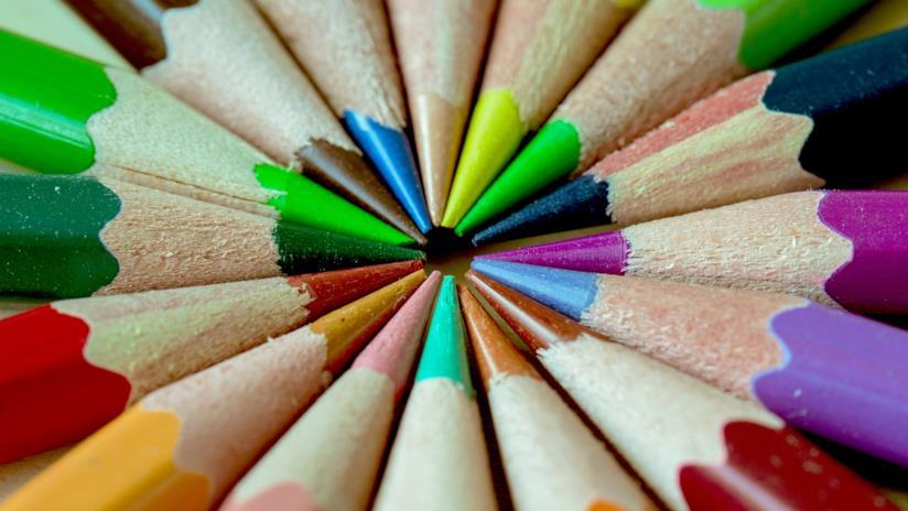 Composizione di colori a pastello