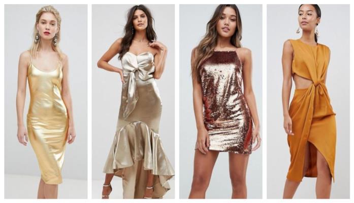 Oro, gli abiti di tendenza per l'estate 2018