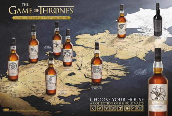 La collezione di whisky ispirata a Game of Thrones