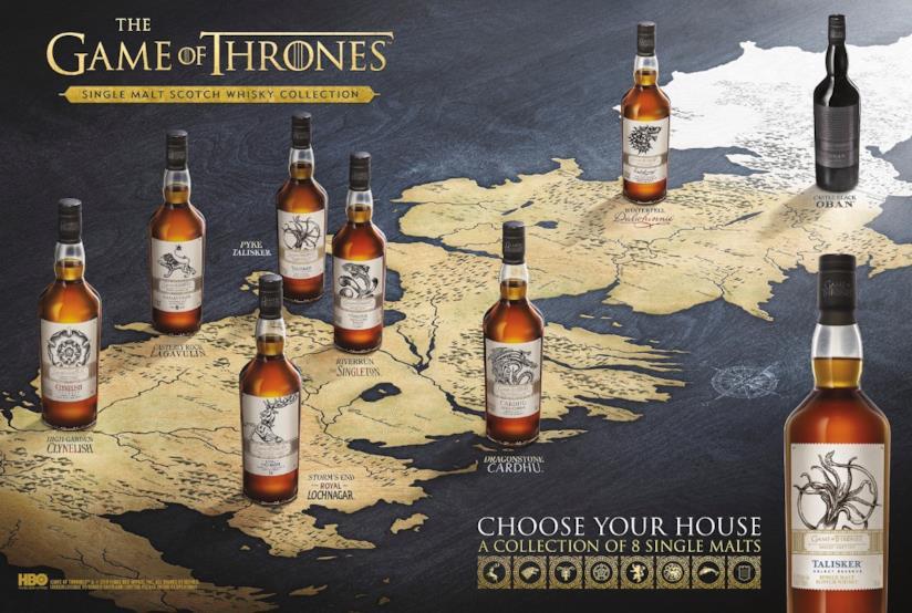 La collezione di whisky ispirata a Game of Thrones