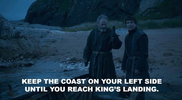 Davos spiega a Gendry come arrivare ad Approdo del Re