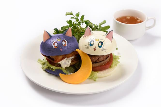 Un piatto del menù del Sailor Moon Café 2017