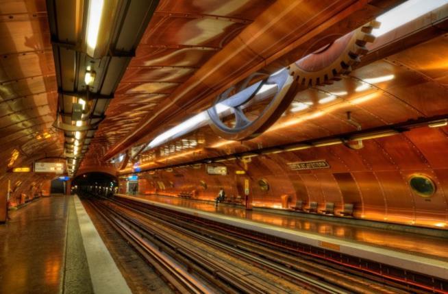Stazione  Arts et Métiers,Linea 11, Parigi  binari