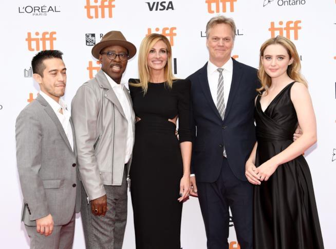 Julia Roberts e il regista Peter Hedges al Toronto Film Festival per la presentazione di Ben is Back