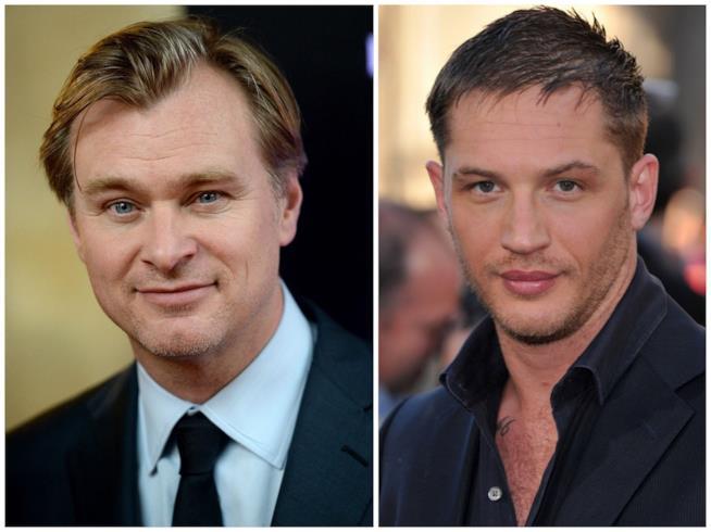 Primo piano di Christopher Nolan e Tom Hardy