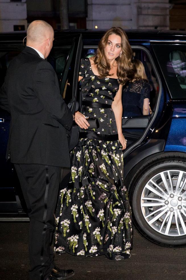 Kate Middleton arriva al National Portrait Gallery Gala
