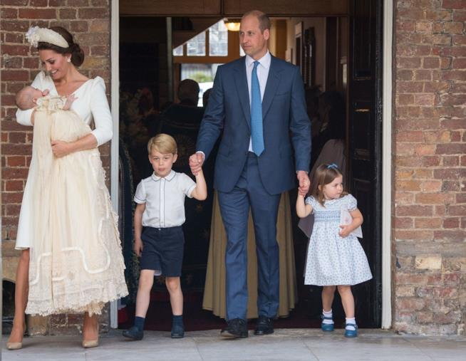 Kate Middleton e William con i loro figli