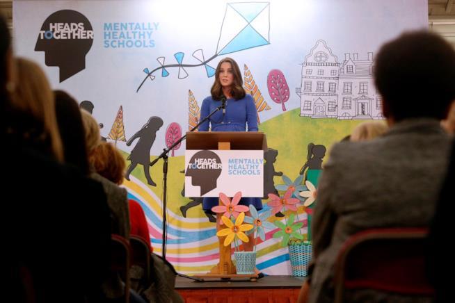 Kate Middleton durante il suo discorso sulla salute mentale
