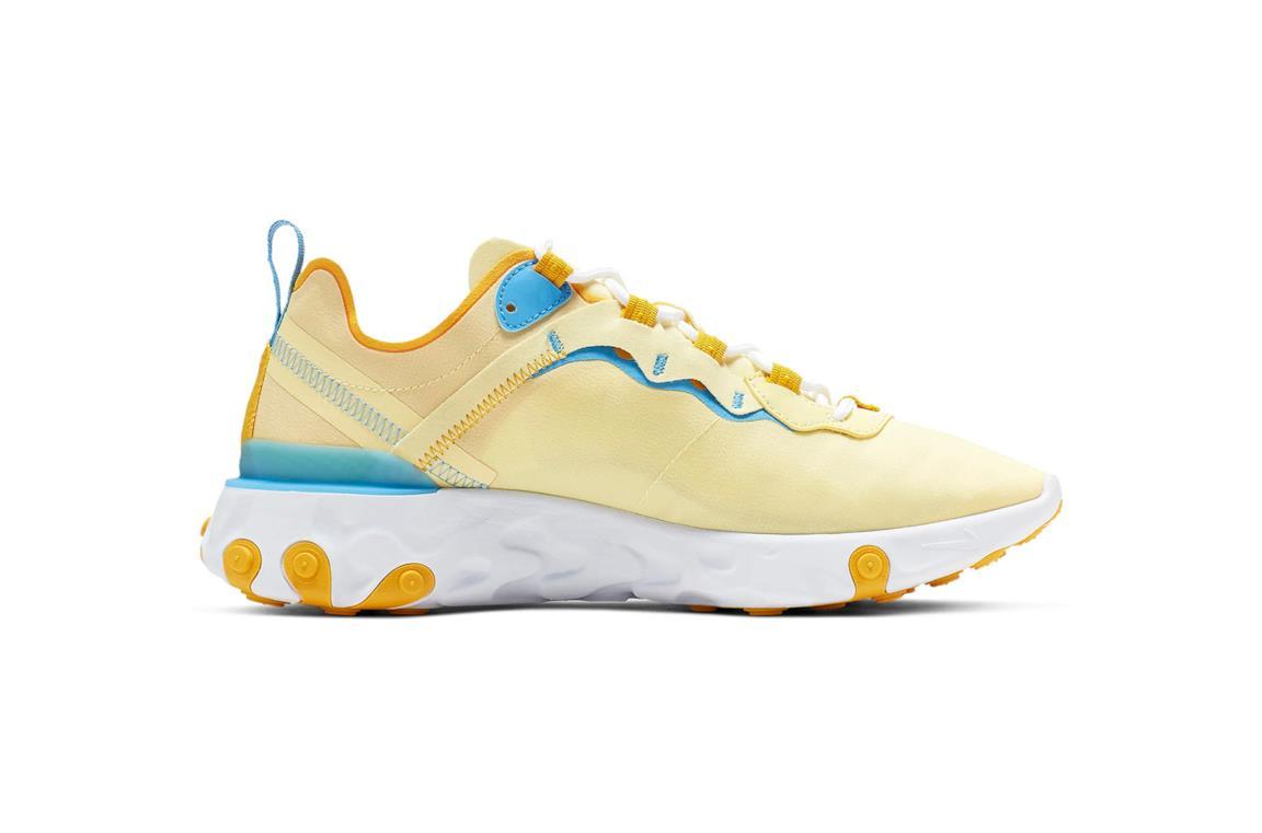 Nuova react element Nike giallo