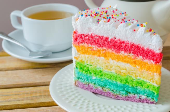 Rainbow cake a sei strati