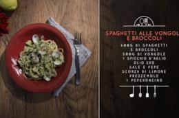 Spaghetti con vongole e broccoli