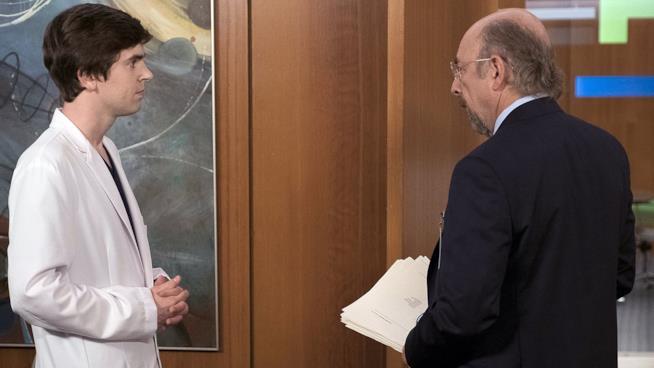 Shaun e Glassman nell'episodio 1x13 di The Good Doctor