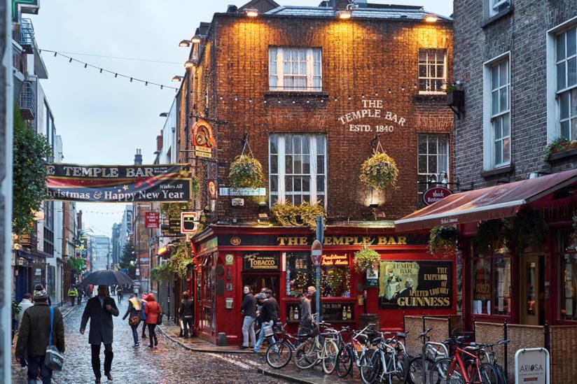 La zona della movida di Dublino