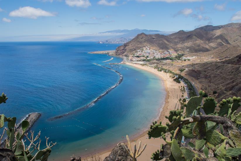 Vista di una spiaggia di Tenerife