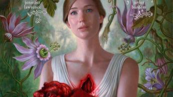 Jennifer Lawrence nella locandina di Madre!