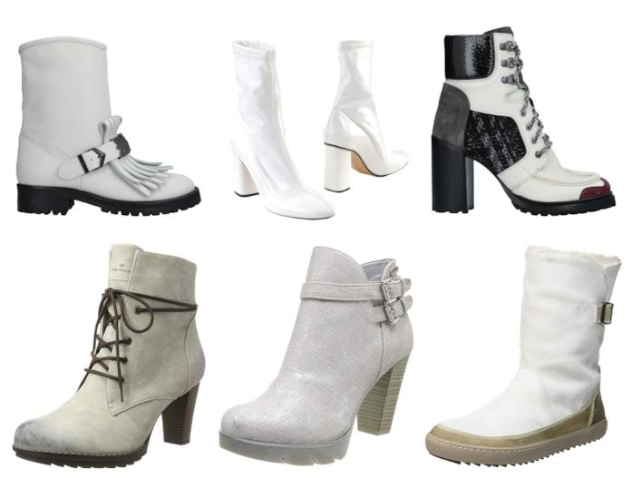 Ankle boots bianchi di moda per l'autunno inverno 2018-19