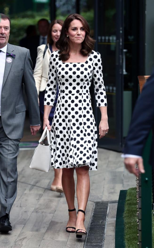 Kate Middleton a Wimbledon in Dolce & Gabbana