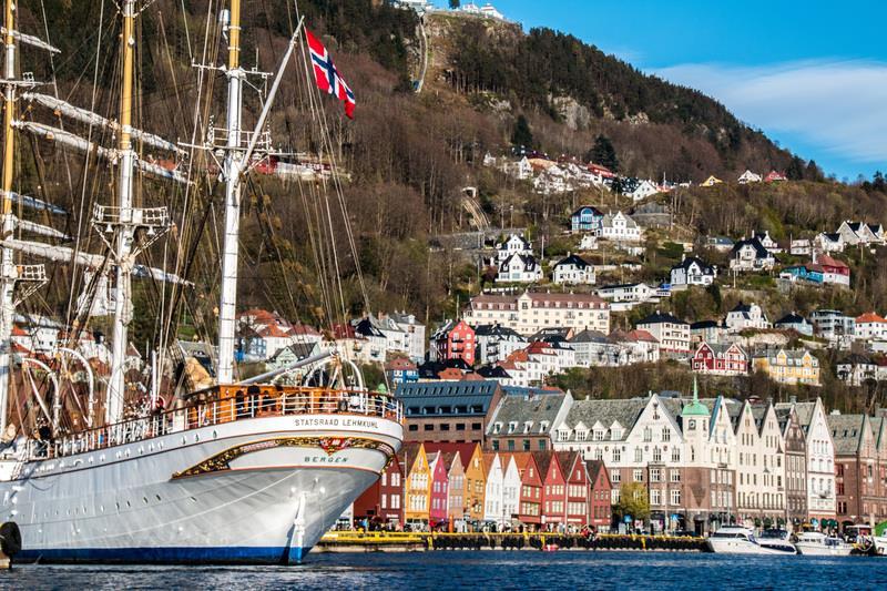 Una veduta di Bergen