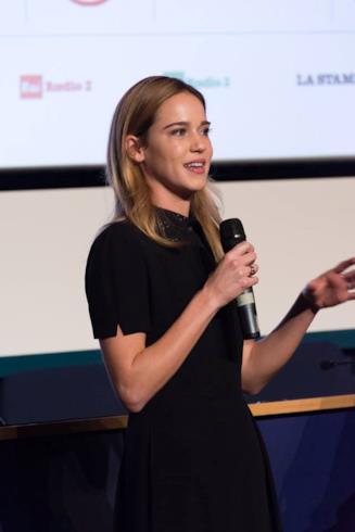 Matilda Lutz durante la presentazione di Revenge