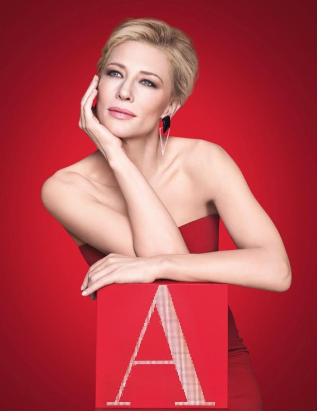 Un'immagine di Cate Blanchett per Armani Perfume