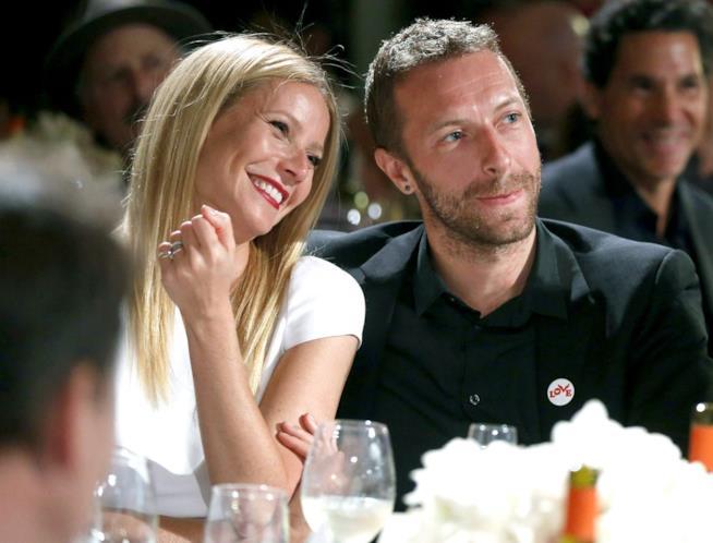 Gwyneth Paltrow con l'ex marito Chris Martin