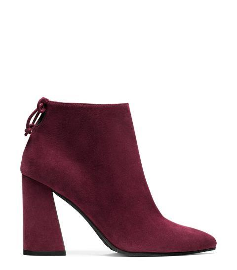 Ankle Boots magenta con tacco