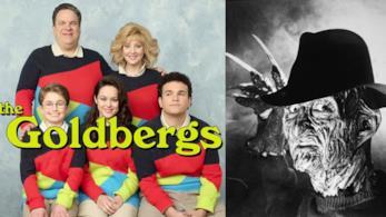 La locandina The Goldsbergs e una foto Freddy Krueger