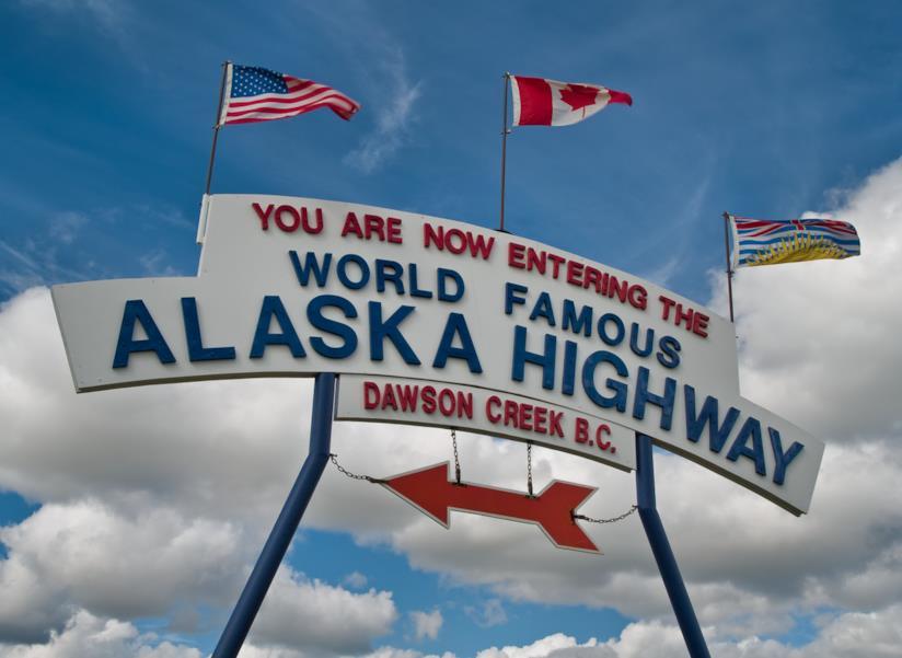 Segnale dell'Alaska Highway