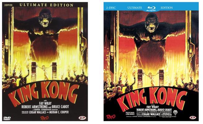 King Kong DVD e Blu-ray