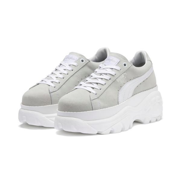 Sneakers PUMA x BUFFALO in pelle scamosciata color bianco ghiaccio Puma