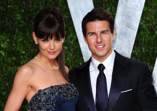 Katie Holmes con l'ex marito Tom Cruise