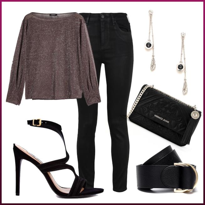 Outfit color argento