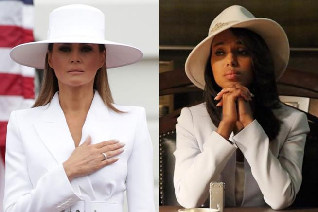 Due look a confronto: Melania Trump vs. Olivia Pope