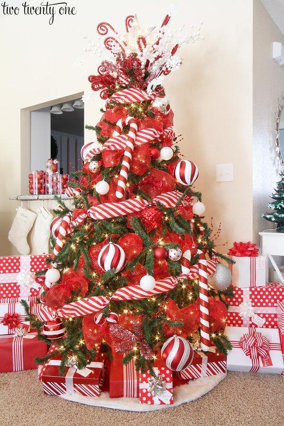 Albero Di Natale Shabby Chic Rosso.100 Idee E Immagini Per Realizzare L Albero Di Natale