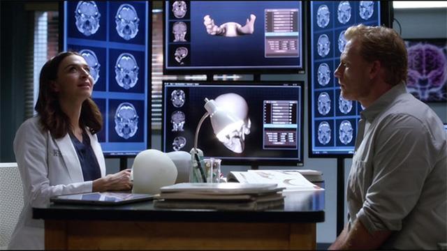 Amelia e Owen in Grey's Anatomy 14x02