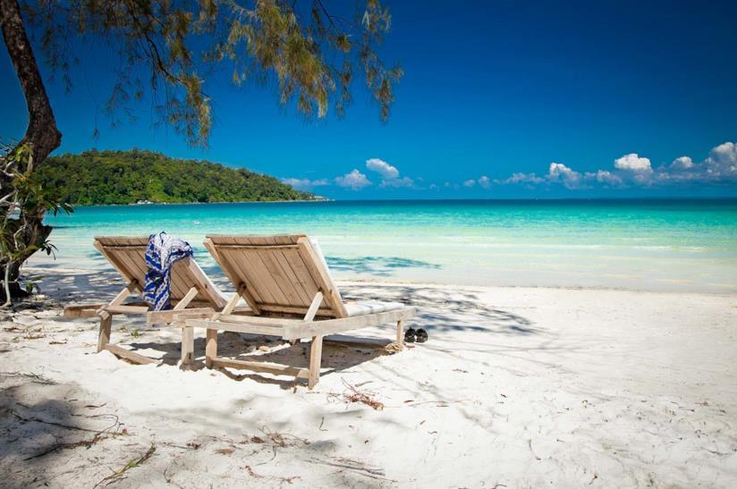 Spiaggia dell'isola di Koh Rong in Cambogia