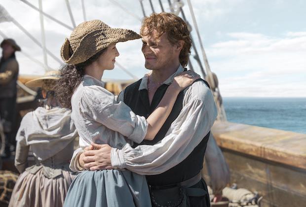 Una scena della serie TV Outlander