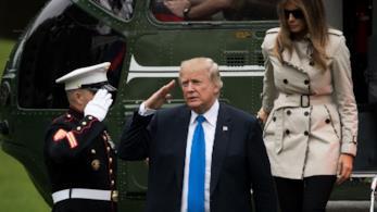 Melania Trump e il Presidente Trump